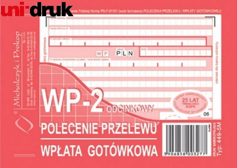 Polecenie przelewu WP-2 449-5M