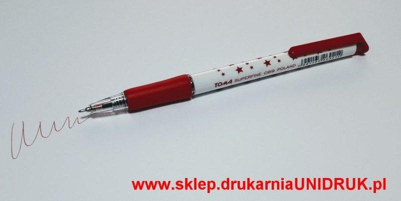 Długopis czerwony Toma