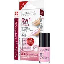 EVELINE Nail Therapy 6w1 Odżywka Do Paznokci Nadająca Kolor ROSE 5ml