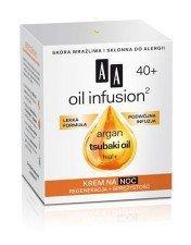 AA Oil Infusion Krem Na Noc Regeneracja + Sprężystość 40+ 50ml Skóra wrażliwa i skłonna do alergii