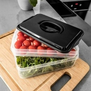 Pojemnik na żywność ORGANIZER na wędliny sery 2-poziomy