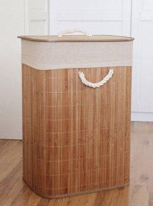 Kosz pojemnik na pranie bieliznę BAMBUS składany