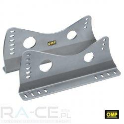 OMP, Mocowanie boczne, aluminiowe 400mm długości, 6mm grubości. Wysokie. Srebrne lub czarne, FIA