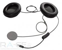 Sluchawki OMP TECH-RACE z mikrofonem do kasku zamkniętego