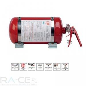 System gaśniczy OMP Sport, stalowy, mechaniczny 4,25l Homologacja FIA