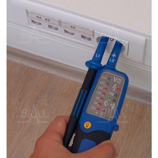 Eazy Volt Tester elektryka 12..750V, LED, znak bezpieczeństwa B