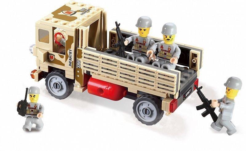 Klocki Blocki Myarmy Wojsko Ciężarówka Wojskowa 183 El Klocki Dla