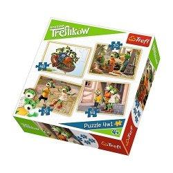 Trefl 4w1 Rodzina Treflików Przygody Treflików