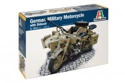 Italeri German military motorcycle with sidecar