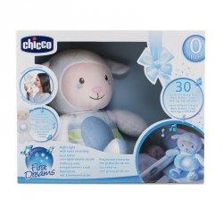 Chicco Owieczka z nocną lampką niebieska