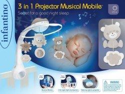 B-kids Muzyczna karuzelka 3w1 Infantino beżowa