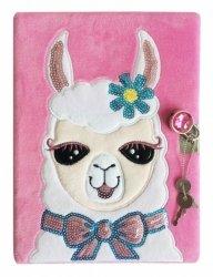Pamiętnik pluszowy Lama A6, 60 kartek