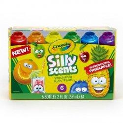 Farby pachnące zmywalne Silly Scents 6 sztuk