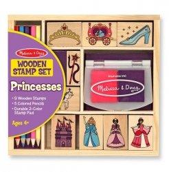 Zestaw drewnianych pieczątek - Księżniczki