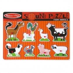 Melissa & Doug Puzzle dźwiękowe - Farma