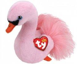 Maskotka TY Beanie boos - Różowy łabędź, 15 cm