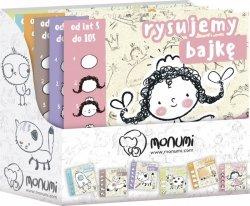 Monumi Księżeczka do nauki rysowania display, 12 sztuk