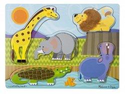 Melissa & Doug Puzzle drewniane Poczuj i Dotknij - Zoo