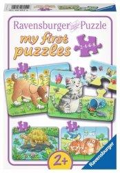 Ravensburger Puzzle 2/4/6/8 elementów - Słodkie zwierzęta