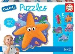 Educa Puzzle Baby Zwierzęta morskie