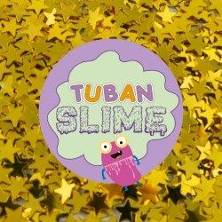 TUBAN Brokat Slime - Złote gwiazdki