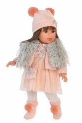 Llorens Lalka Leti brunetka różowa sukienka 54027 40 cm