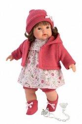 Llorens Lalka płacząca Aysel różowa brunetka 33330 33 cm