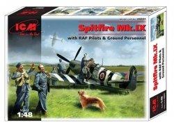 Icm Model plastikowy Samolot Spitfire Mk.IX w/RAF Pilots&Gr.Personnel