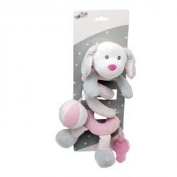Axiom Sprężynka pluszowa New Baby Piesek biały 30 cm