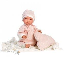 Lalka płacząca Lala różowe spioszki
