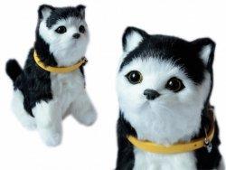 ASKATO Maskotka Kotek interaktywny czarno-biały