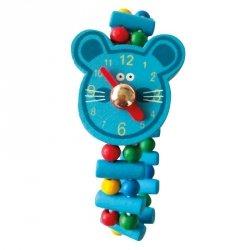 Drewniany zegarek mysz