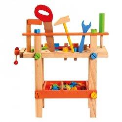 BINO Drewniany warsztat z narzędziami