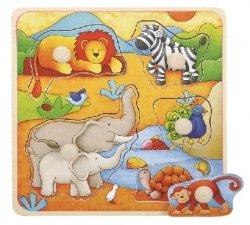 Brimarex Puzzle drewniane z pinezkami TOP BRIGHT - Afryka 17x17 cm