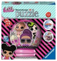 Ravensburger Puzzle 3D LOL Surprise Kula 72 elementy