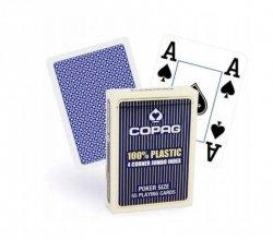 Cartamundi Karty Poker Plastik PKJ niebieskie Jumbo 4p