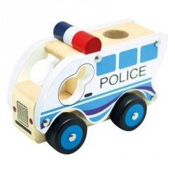 BINO Drewniany samochód policja