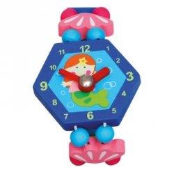 BINO Zegarek drewniany niebieski