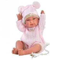Llorens Lalka bobas 43 cm rozowa czapeczka