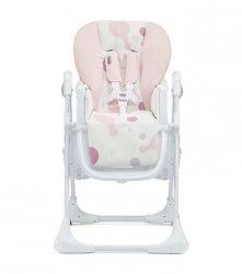 Kinderkraft Krzesełko do karmienia + tacka Yummy różowe