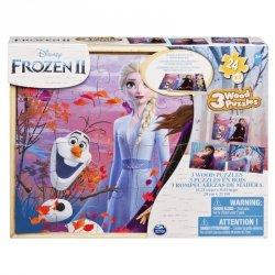 Puzzle drewniane 3x 24elementy, Cardinal Games Frozen 2