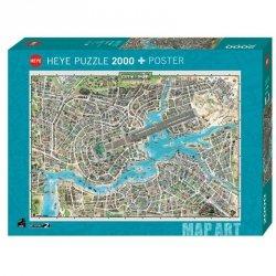 Puzzle 2000 elementów Miasto Pop