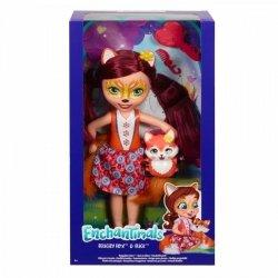 Mattel Lalka Enchantimals Duża + zwierzątko Lis