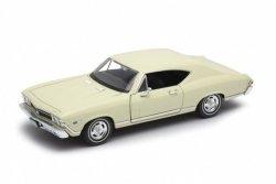 Welly Model kolekcjonerski 1968 Chevrolet Chevelle SS396, kremowy