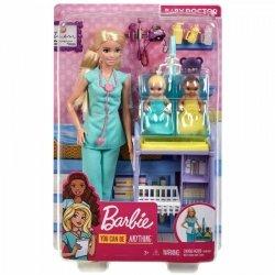 Mattel Lalka Barbie Kariera Zestaw Pediatra