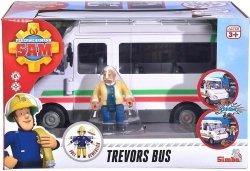 Simba Pojazd autobus Trevora z figurką Strażak Sam
