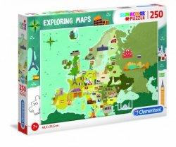 Clementoni Puzzle 250 elementów Exploring Maps Great Places in Europe