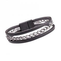 Skórzana bransoletka na rękę W-TEC Cregnesh Długość 22 cm