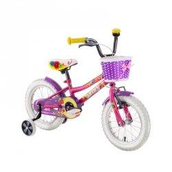 "Rower dla dzieci DHS Daisy 1402 14"" - model 2019 Kolor Fioletowy"
