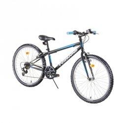"""Rower dziecięcy Junior Bike DHS Teranna 2421 24"""" - model 2019 Kolor Czarny"""